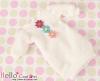 292.NK-18 Blythe Pullip  パフスリーブ装飾された洋服 (3花) # 白 White