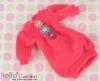 294.NK-20 Blythe Pullip  パフスリーブ装飾された洋服 (3花) # 濃いピンク Deep Pink
