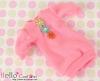 297.NK-23 Blythe Pullip  パフスリーブ装飾された洋服 (3花) # Sweet Pink