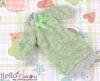328.NK-25 Blythe Pullip  パフスリーブ装飾されたドット洋服 (蝶結び) # きみどり Apple Green