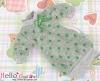 311.NK-28 Blythe Pullip  パフスリーブ装飾されたドット洋服 (蝶結び) # 緑色 Green