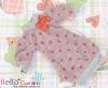 326.NK-30 Blythe Pullip  パフスリーブ装飾されたドット洋服 (蝶結び) # 濃い桃色 Deep Pink