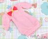 46.NK-33 Blythe Pullip  パフスリーブ装飾された洋服 (蝶結び) # ピンク Pink