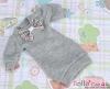 48.NK-34 Blythe Pullip  パフスリーブ装飾された洋服 (蝶結び) # 灰 Grey
