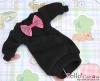 52.NK-35 Blythe Pullip  パフスリーブ装飾された洋服 (蝶結び) # 黒 Black