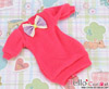 53.NK-36 Blythe Pullip  パフスリーブ装飾された洋服 (蝶結び) # 濃い桃色 Deep Pink