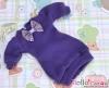 56.NK-37 Blythe Pullip  パフスリーブ装飾された洋服 (蝶結び) # 紫 Violet