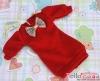 64.NK-41 Blythe Pullip  パフスリーブ装飾された洋服 (蝶結び) # 深紅 Deep Red