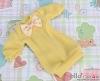 65.NK-42 Blythe Pullip  パフスリーブ装飾された洋服 (蝶結び) # 黄 Yellow