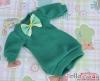66.NK-43 Blythe Pullip  パフスリーブ装飾された洋服 (蝶結び) # 海の緑 Sea Green