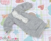 12.NK-46 Blythe Pullip 装飾された洋服 (レース花) # 灰 Grey