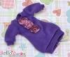 24.NK-47 Blythe Pullip 装飾された洋服 (レース花) # 紫 Purple