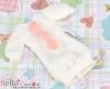 62.NK-48 Blythe Pullip 装飾された洋服 (レース花) # 白+ピンク花 White+Pink flower