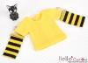 339.【NT-8】Blythe Pullip(独立袖 )Tシャツ # ストライプ黄色 Stripe Yellow