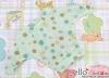 202.【NW-3】Blythe Pullip バットウィングスリーブ ボートネック # ドット& 星 ミントグリーン Dot & Star/Mint