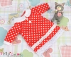 103.【NY-2】Blythe Pullip 襟付きのドレス # 赤色 Red