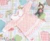 334.【NY-7】Blythe Pullip 襟付きのドレス # 白+ピンクドット White Pink